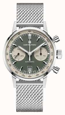 Hamilton Intramatik | automatisch | Chronograph | grünes Zifferblatt H38416160