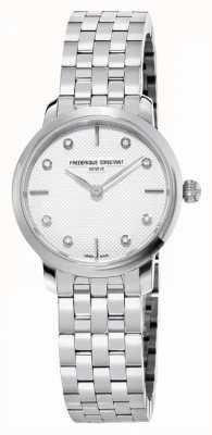 Frederique Constant Damen schlankes Diamantzifferblatt | Edelstahlarmband FC-200STDS26B