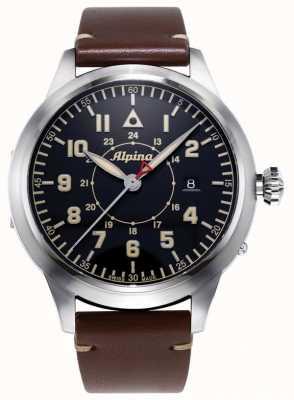 Alpina Smartimer Pilot Heritage Ltd. braunes Lederband | blaues Zifferblatt AL-525BBG4SH6