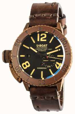 U-Boat Sommerso 46 Bronze automatisches braunes Lederband 8486/C