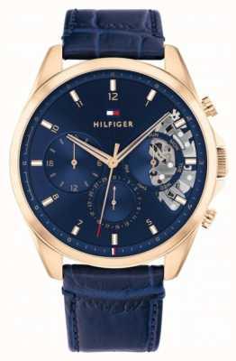 Tommy Hilfiger Bäcker | blaues Lederband | blaues Zifferblatt 1710451