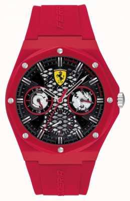 Scuderia Ferrari Streben | rotes Silikonband | schwarzes Zifferblatt 0830786