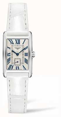 Longines Dolcevita Eleganz zeitgenössisch | Damen | weißes Leder | Schweizer Quarz L52554712