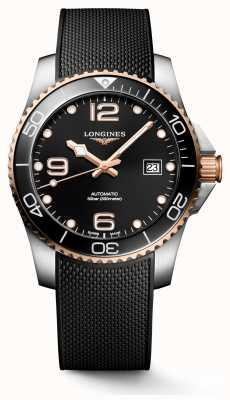 Longines Hydroconquest 41mm | schwarzes Zifferblatt | Gummiband L37813589