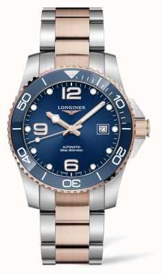 Longines Zweifarbiges blaues Hydroconquest-Zifferblatt für Herren L37813987