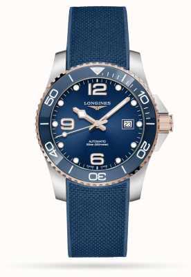 Longines Hydroconquest Automatik 41mm blaues Kautschukarmband L37813989
