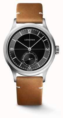 Longines Heritage klassisches braunes Lederarmband L28284532