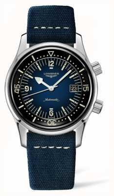 Longines Heritage Legende Taucher blaues Lederband L37744902