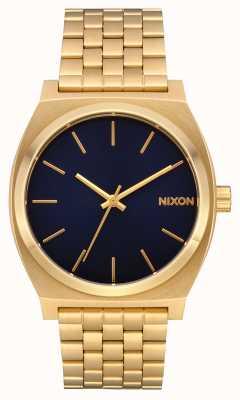 Nixon Zeitzähler | ganz gold / indigo | goldenes ip-armband | indigofarbenes Zifferblatt A045-2033