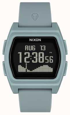Nixon Rivale | nebelfarben | digital | Nebelfarbenes Silikonband A1310-5035