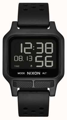 Nixon Hitze | komplett schwarze Kautschukarmbanduhr A1320-001