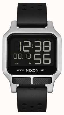 Nixon Hitze | schwarzes perforiertes Kautschukarmband A1320-008