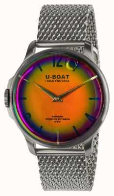 U-Boat Regenbogen 44mm orange ss auf Metallarmband 8469/MT