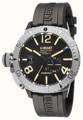 U-Boat Sommerso / eine schwarze Kautschukarmbanduhr 9007/A