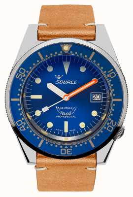 Squale Ozean | automatisch | blaues Zifferblatt | braunes Vintage Lederband 1521OCN.PC-CINVINTAGE