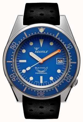 Squale Blau gestrahlt | automatisch | blaues Zifferblatt | schwarzes Silikonband 1521BLUEBL.NT-CINTRB20