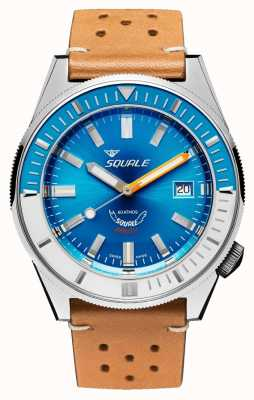 Squale Matic hellblaues Leder | automatisch | blaues Zifferblatt | braunes Lederband MATICXSE.PTC-CINU1565CM