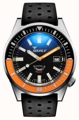 Squale Satin orange | automatisch | schwarzes Sunburst-Zifferblatt | schwarzes Silikonband MATICXSC.NT-CINTRB22