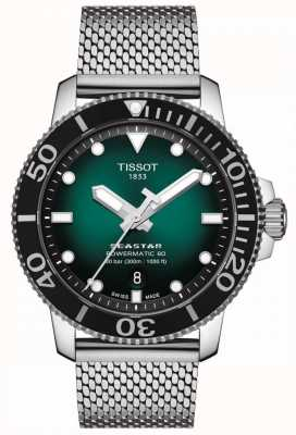 Tissot Seastar 1000 | powermatic 80 | grünes Zifferblatt | rostfreies Netz T1204071109100