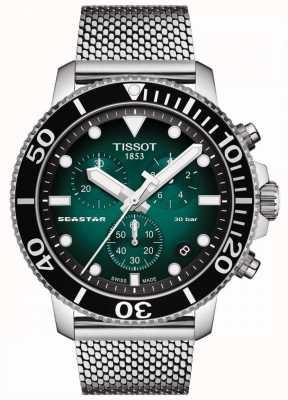 Tissot Seastar 1000 | Chronograph | grünes Zifferblatt | rostfreies Netz T1204171109100