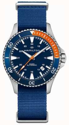 Hamilton Khaki Navy Scuba Auto Nato Armband für Herren H82365941