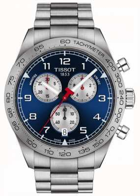 Tissot Prs 516 | Chronograph | blaues Zifferblatt | Edelstahlarmband T1316171104200