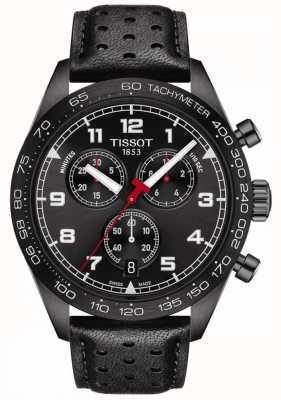 Tissot Prs 516 | Chronograph | schwarzes Zifferblatt | schwarzes Lederband T1316173605200