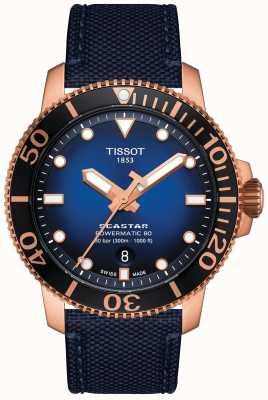 Tissot Seastar 1000 | powermatic 80 | blaues Zifferblatt | blauer Stoff T1204073704100