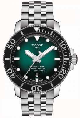 Tissot Seastar 1000 | powermatic 80 | grünes Zifferblatt | rostfreier Stahl T1204071109101