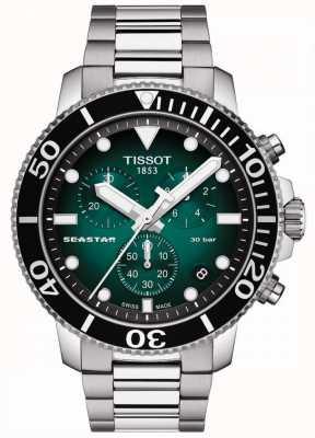 Tissot Seastar 1000   Chronograph   grünes Zifferblatt   rostfreier Stahl T1204171109101