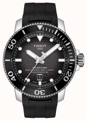 Tissot Seastar 2000 pro | powermatic 80 | schwarzes Zifferblatt | Silikon T1206071744100