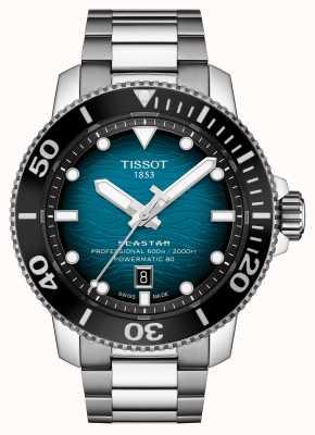 Tissot | seastar 2000 pro | powermatic 80 | türkisfarbenes Zifferblatt | Stahlarmband | T1206071104100
