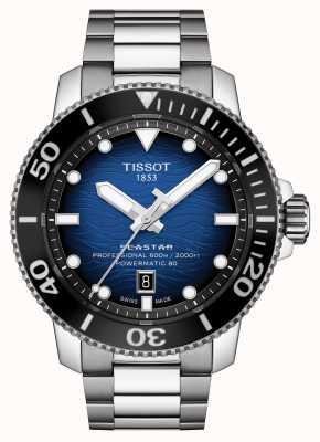 Tissot Seastar 2000 pro | powermatic 80 | blaues Zifferblatt | Stahl T1206071104101
