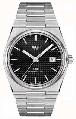 Tissot | prx 40 205 | powermatic 80 | schwarzes Zifferblatt | Edelstahlarmband | T1374071105100