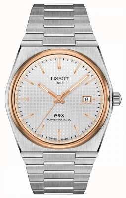 Tissot | prx 40 205 | powermatic 80 | weißes Zifferblatt | Edelstahlarmband | T1374072103100