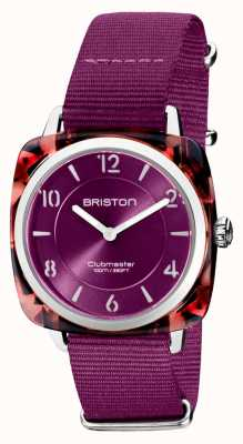 Briston Clubman chic | Roségold 36mm Kardinal Zifferblatt | Kardinal NATO-Gurt 21536.PRA.UR.32.NC