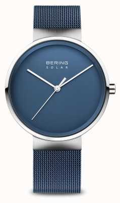 Bering Solarblaues Netzarmband für Herren 14339-307