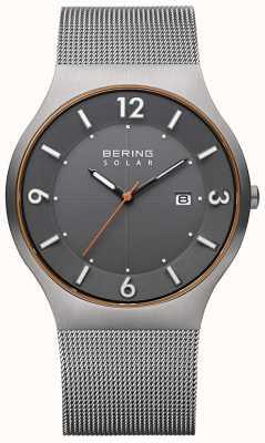 Bering Solar | Männer | graues Stahlgitterarmband 14440-073-A