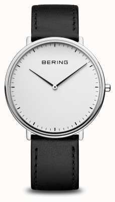 Bering Klassische schwarze Unisex-Armbanduhr 15739-404