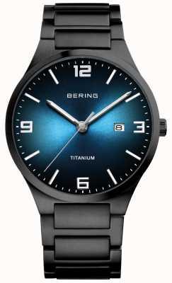Bering Herrenuhr aus schwarz plattiertem Titan 15240-727