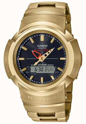 Casio G-Schock | Vollmetallarmband | vergoldet | funkgesteuert AWM-500GD-9AER
