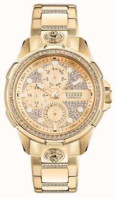 Versus Versace 6eme Arrondissment Golduhr mit Kristallen VSP1M0521