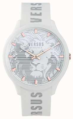 Versus Versace Domus weiße Silikonarmbanduhr für Herren VSP1O0421