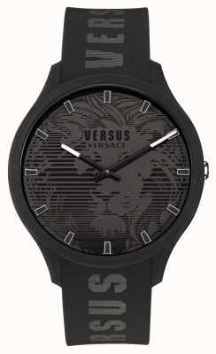 Versus Versace Domus schwarze Silikonarmbanduhr für Herren VSP1O0521
