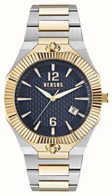 Versus Versace Echo Park Uhr mit zweifarbigem blauem Zifferblatt VSP1P0521
