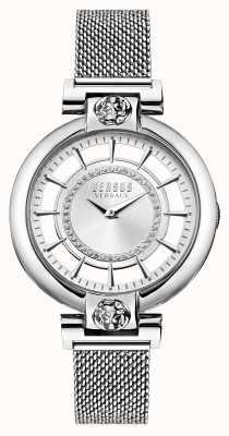 Versus Versace Damenarmband aus silberfarbenem See-Mesh-Edelstahl VSP1H0521