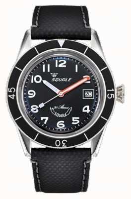Squale Sub-39 | schwarz arabisch | schwarzes Zifferblatt | schwarzes Lederarmband SUB-39MON