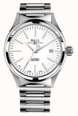 Ball Watch Company Feuerwehrmann Automatik 40mm weißes Zifferblatt NM2098C-S20J-WH