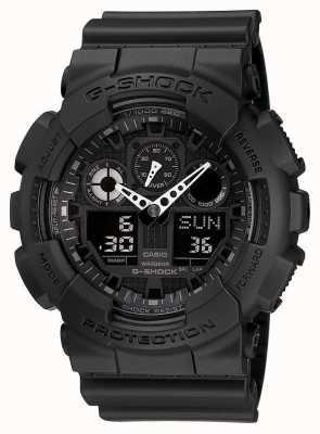 Casio G-Schock Chronograph Alarm schwarz GA-100-1A1ER