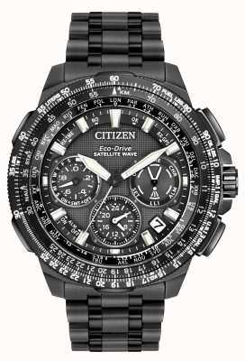 Citizen GPS Navihawk Satellitenwelle | schwarzes Supertitan CC9025-85E